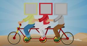 ¿Quién va a andar en bicicleta con usted?