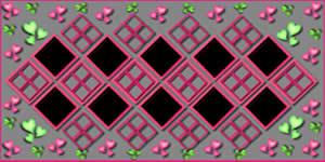 Mosaico de Corações Verde e Rosa com foto sua + 9 Amigos! Faça o Seu!
