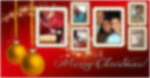 Montagem de Natal com 6 fotos do Facebook