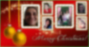 Merry Christmas photo collage with 6 photos from Facebook