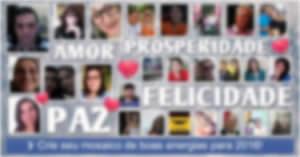 Crie seu mosaico de boas energias para 2018 com 25 amigos!