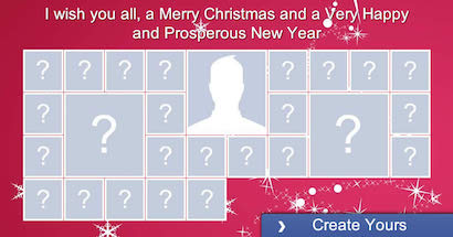 Create your Christmas photo collage with 25 friends!