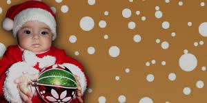 Mosaico de la Navidad con 10 amigos, y hermosa frase de Navidad!