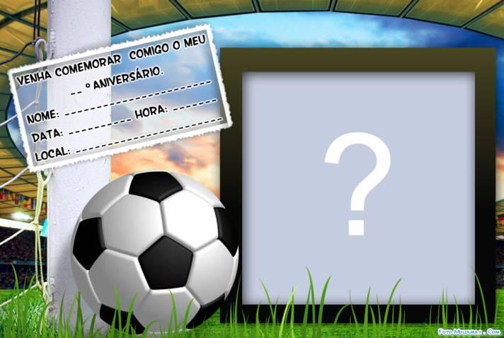 Moldura Convite De Futebol